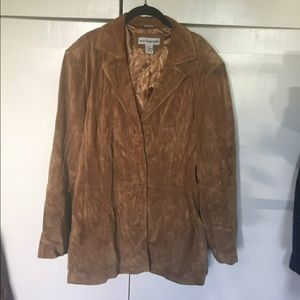 Modern essentials soft suede leather coat 20/22
